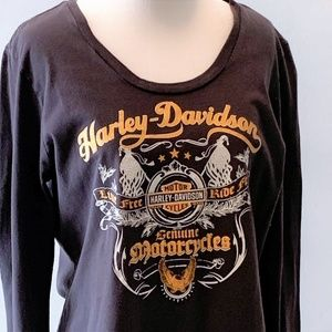 Harley Davidson Charcoal Long-Sleeved Tee - XL